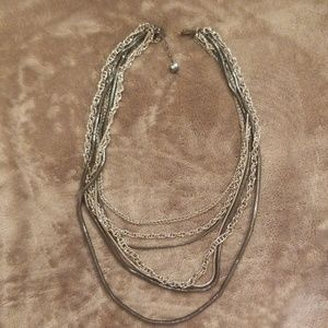 Black and Silver necklaces